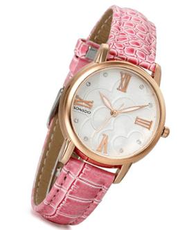 orologio rosa cinturino in pelle