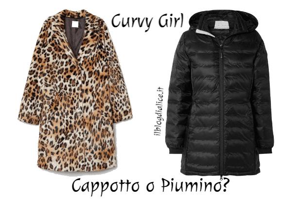 cappotto o piumino moda curvy