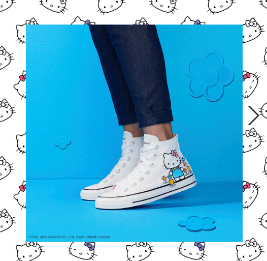 converse hello kitty sneakers bianche