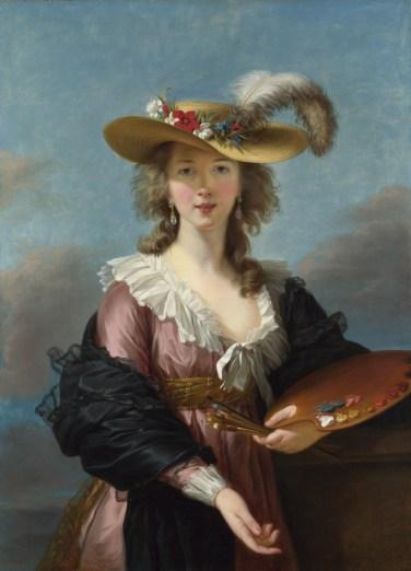 autoritratto di Elizabeth Vigee Le Brun, fine Ottocento