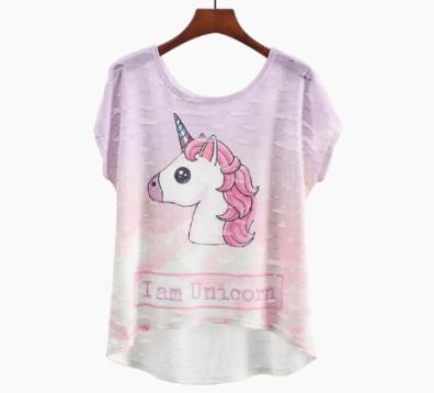 unicorno rosa t-shirt