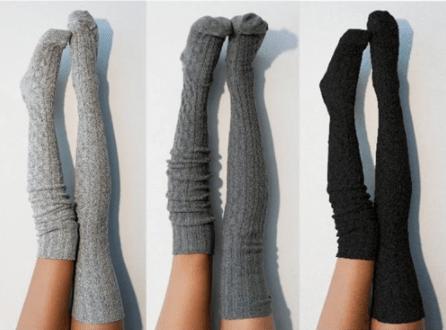 Come usare vestiti estivi in inverno autoreggenti in lana