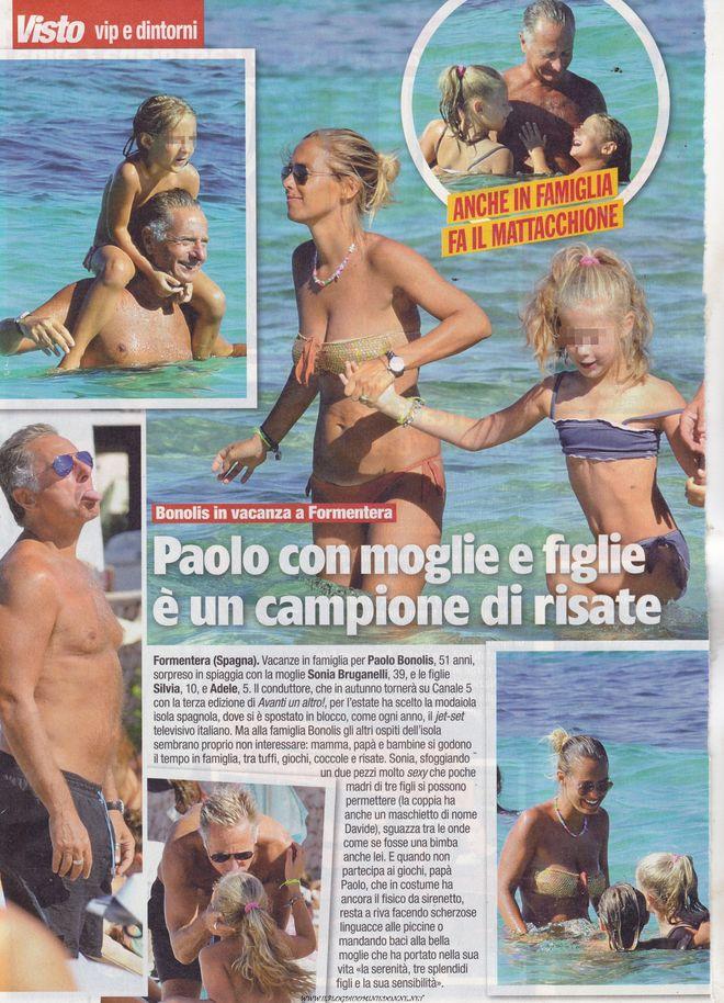 Paolo Bonolis porta la sua Sonia Bruganelli a Formentera