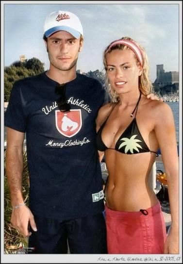 Foto di Alice Bregoli in bikini con il marito Alberto Gilardino