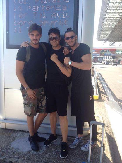 Francesco Monte e Tommaso Scala si incontrano in aeroporto con il manager de Falco