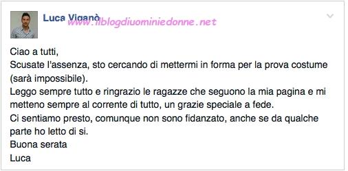 Luca Viganò scrive nella sua pagina facebook