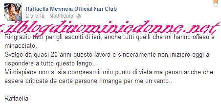 Raffaella Mennoia della redazione risponde a  Anna Munafò