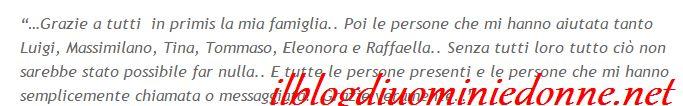 Claudia d'Agostino ringrazia tutti i suoi fans