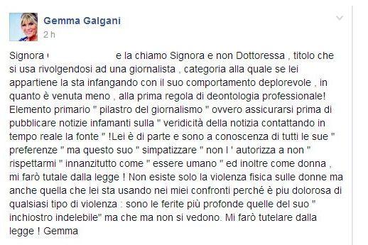 Gemma Galgani annuncia azione legale