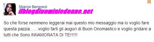 Sharon Bergonzi urla su facebook