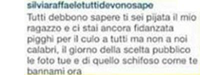 Silvia Raffaele accusata di essere fidanzata