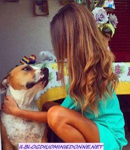 SIlvia Raffaele e l'amore per il suo cane