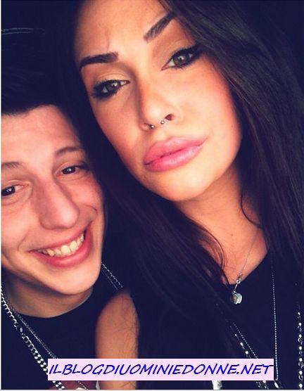 Selfie di Valentina Dallari con l'amico Mirko