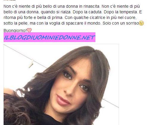 Alessia Messina dichiarazione ufficiale su facebook