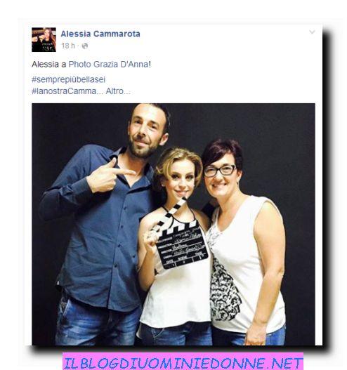 Alessia Cammarota in uno shooting fotografico