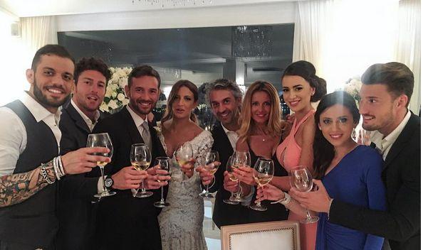 Amedeo Andreozzi e Alessia Messina al matrimonio