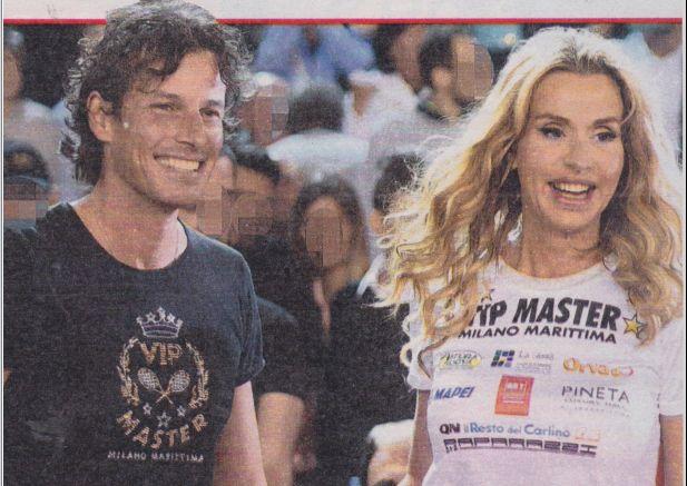 Valeria Marini insieme al fidanzato Patrick Baldassari al torneo di tennis Vip Master