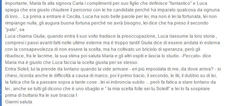 Luca Onestini ha scelto Soleil Sorge