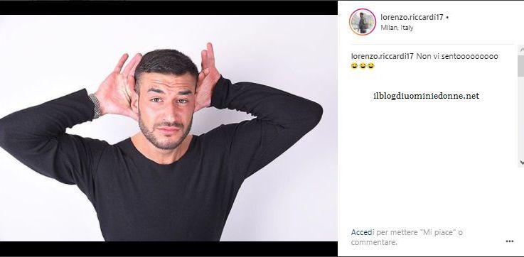 La risposta di Lorenzo Riccardi alle fans di Luigi…