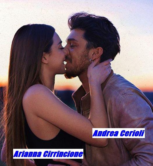 Andrea Cerioli si bacia con la nuova fidanzata Arianna Cirrincione
