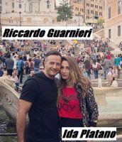 Ida Platano insieme con la sua fidanzata Riccardo Guarnieri