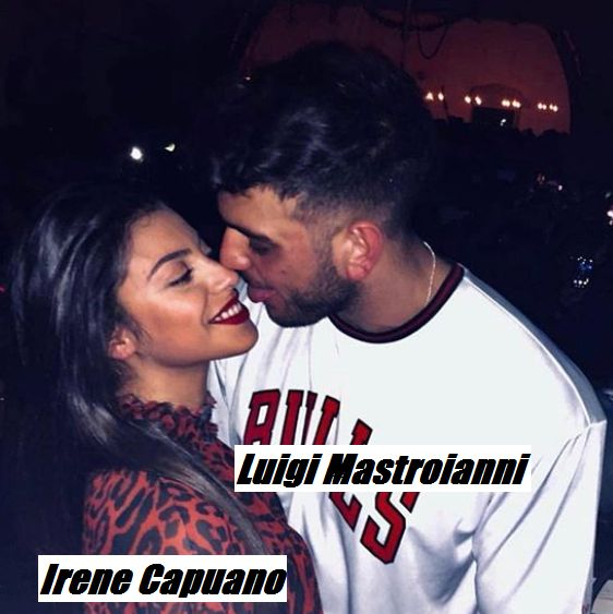 Luigi Mastroianni e Irene Capuano si baciano