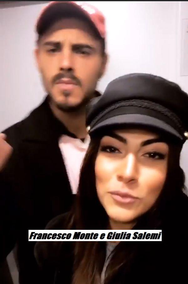 Francesco Monte e Giulia Salemi dichiarazione d'amore