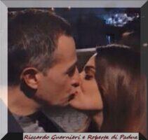 Roberta di Padua e Riccardo Guarnieri di Uomini e donne si baciano a Ponte Milvio