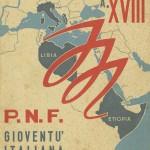 Pagella scolastica dell'anno scolastico 1939/40