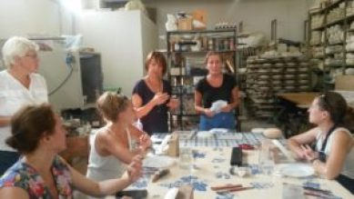 Nel corso dei dieci giorni i turisti russi hanno svolto laboratori nelle botteghe faentine
