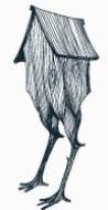 Il logo di Postrivoro, un animale immaginario che si nutre di storie di esseri umani