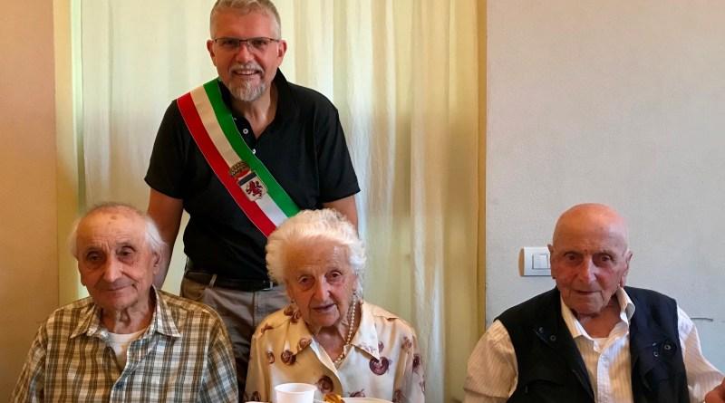 100 anni Pezzi Rosa festeggiamenti con sindaco