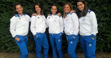 Tennis Club Faenza - Serie A1 Femminile 2019 - da sinistra Scala Arcangeli Balducci Zucchini Ercolino