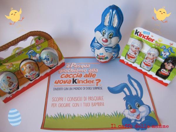 La caccia alle uova di Pasqua con Kinder