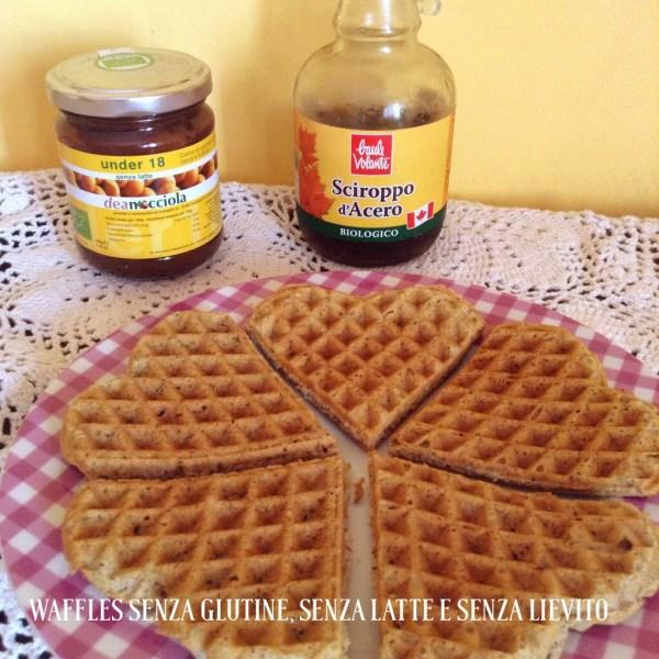 waffles senza glutine, senza latte e senza lievito