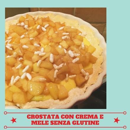 Crostata con crema e mele senza glutine