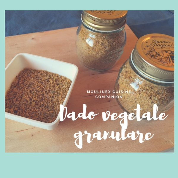 Dado vegetale granulare fatto in casa