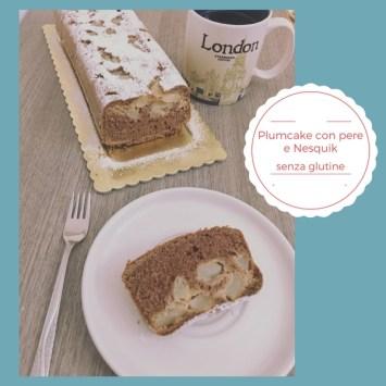 Plumcake con pere  senza glutine