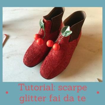 Tutorial scarpe glitter fai da te