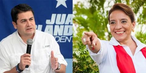 Gli sfidanti: Juan Orlando Hernández e Xiomara Castro