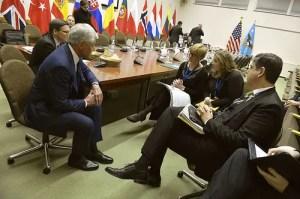 L'incontro di ieri tra Roberta Pinotti, neo-Ministro della Difesa, e Chuck Hagel al NATO Defense Ministerial meetings di Bruxelles.
