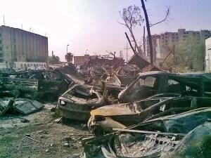 Resti di un attacco terroristico a Baghdad. L'Iraq è il Paese più colpito di sempre.