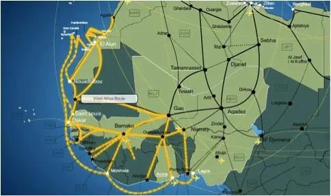 Rotta africana occidentale, mappa da imap-migration.com