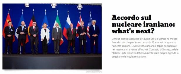 Timeline accordo Iran