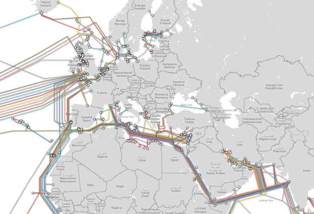 Europe Cable Map