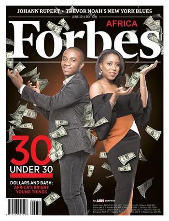 La copertina di Forbes Africa di giugno 2016