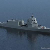 Fig.21 - Rendering del PPA per la Marina Militare. Vista da prua