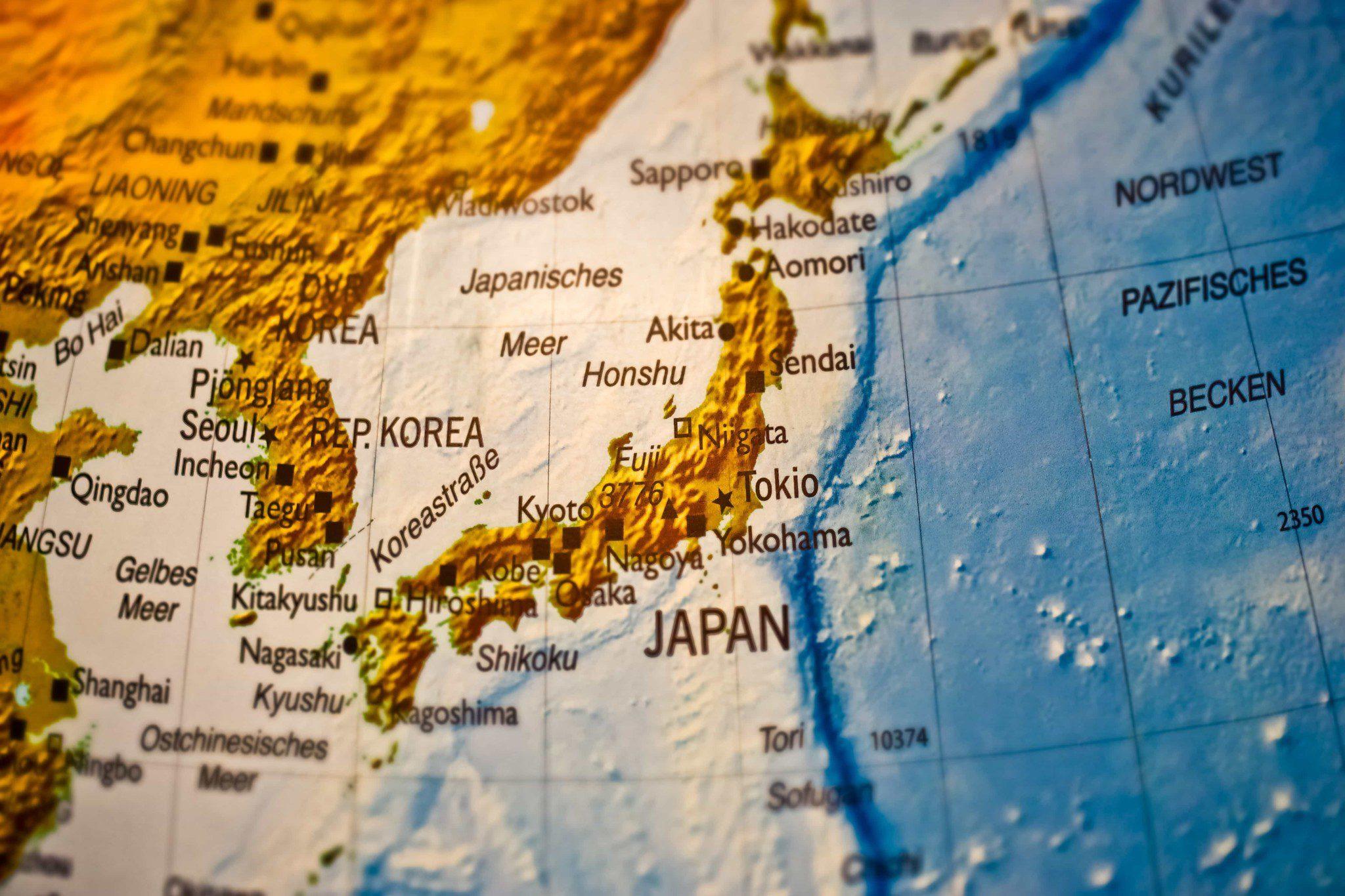 Cina E Giappone Cartina.E Guerra Commerciale Tra Giappone E Corea Del Sud Il Caffe