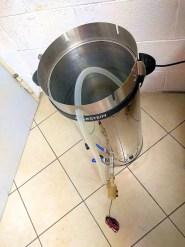 Il tubo della pompa inserito