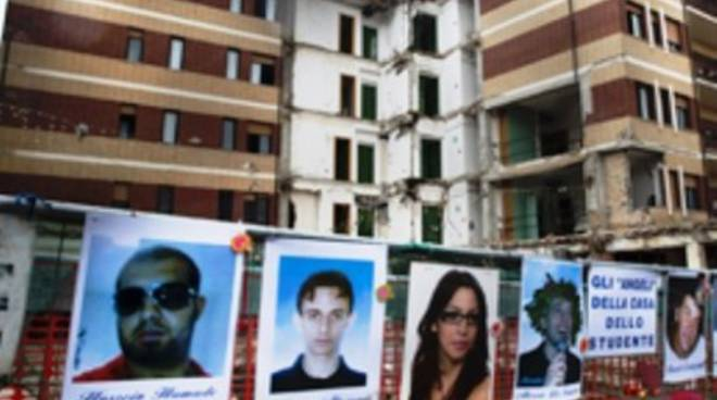 Crollo Casa dello Studente azione civile  Il Capoluogo